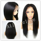 "10""-20"" Kinky Straight 100% Indian Remy Human Hair Full Wig Lace Front/Full lace"