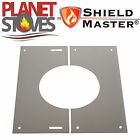 Stainless Steel Shieldmaster 30-45 Degree Finishing Plate Twin Wall Flue Pipe