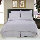 Solid Lilac 8-Piece Bedding Set Super Soft Microfiber Sheets+Duvet+Alternative