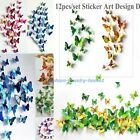 New fashion 3D Butterfly Sticker Art Design Decal Wall Stickers Home Decor