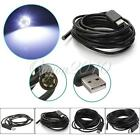 2/5/7/10M USB Waterproof Endoscope Borescope Snake Inspection Video Camera UK