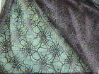 Black spiderweb fabric lace / net / Halloween / 148cm wide Sold by the metre