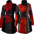 Women's Valance Patchwork Coat Winter Buttons Trench Designer Jacket Gr.38-46 M1