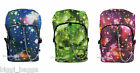 SPACE COSMOS RUCKSACK Backpack Galaxy Star Universe Emo Goth School College Bag