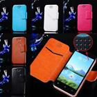 Luxury Flip PU Leather Wallet Case Cover Pouch For iPhone 5 5S 4 4S Galaxy S3 S4