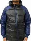 Mens Designer Humor Jeans Padded Jacket Shiny Puffer Hooded Bomber Varsity Coat