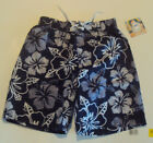 Boys Op Brand Swim Trunks Navy Blue & White Design Size XS S L