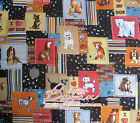 """Good Quality 1/2 meter by the yard cute dogs printed 100% Cotton Fabric 43.3"""" xx"""
