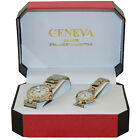 Geneva His and Her N1 Series Stainless Steel Watch Set