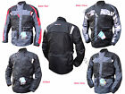 Mens,Motorcycle Motorbike Waterproof  CE Approved Cordura Textile Jackets winter