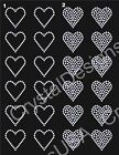 """12 - HEART 1.5"""" inch Rhinestone Iron On LOT for Cheer Bows"""