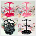 BLACK PINK BAROQUE-STYLE EARRING JEWELLERY DISPLAY HOLDER STAND NECKLACE RINGS