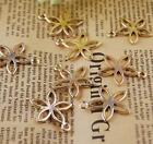 Lovely Gloden Flower Jewelry Necklace Bracelet Pendant Finding Charms Fit 2.5mm