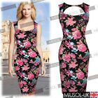 Womens Print Floral Summer Party Bodycon Pencil Hawaiian Tunic Dresses Size81024