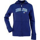 Antigua Women's Toronto Blue Jays Signature Hood Applique Full-Zip Sweatshirt