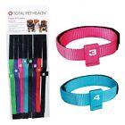 PUPPY ID COLLAR SET of 8  Color Coded Numbered Litter Bands w/ Numbers  Collars