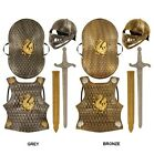 Kids Knight Fancy Dress Armour Helmet Sword Shield Toy Set 1st Class Postage