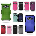 For ZTE Concord 2 II - Shock Proof Dual Layer Mesh Hybrid Phone Cover Case