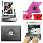 New 360° Rotating Stand Leather Case Cover with Bluetooth Keyboard fr IPad 2 3 4