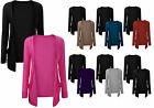 New Womens Twin Pack Boyfriend Cardi Casual Drop Pocket Long Sleeve Cardigan8-14