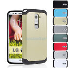 Rugged Impact Dual Layer Hard + Rubber Hybrid Cover Case For LG Optimus G2 D802