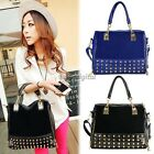New Korean Fashion Women lady Rivet Tote Shoulder Messenger Handbag Bags Purses