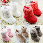 Infant Baby Crochet/Knit Fleece Boots Toddler Girl Wool Snow Crib Shoes Booties