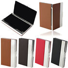 Aluminum Leather Business Credit ID Card Case Metal Box Holder Cover Gayly