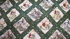 WINNIE THE POOH & FRIENDS WOVEN TAPESTRY FABRIC WINE & GREEN