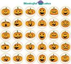30 x Halloween Design 1 Edible Rice Paper or Icing Cup Cake Topper