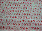 Red / White Reindeer Christmas Fabric145cm wide 100% cotton material /  crafting