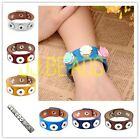 1pc Chunk DIY PU Leather Buckle Colors Bracelet Fit Button Beads Snap Jewelry