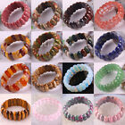 Mixed Natural Carnelian Unakite Crystal Agate Jasper Quartz Beads Bracelet 8""