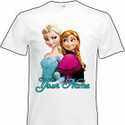 Frozen Elsa & Anna T-Shirt Personalised Clothing Kids Childrens Boys Girls GIFT