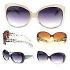 Womens Thick Plastic Oversized Butterfly Designer Fashion Diva Sunglasses New