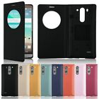 Circle Window Battery Housing Leather Case Cover For LG G3 Mini F470 D722 D725