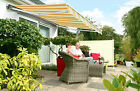 5m Half Cassette ELECTRIC Garden PATIO AWNING Sun Canopy Shade Retractable Cover