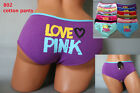 Pack Lot 1 6 12 Fit Plain Sexy Lady Love Pink Cotton Spandex Bikini Panty S/M