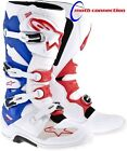 ASTARS TECH 7 MOTOCROSS  ENDURO BOOTS  WHITE/RED/BLUE - FREE DELIVERY