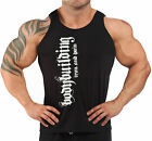 BODYBUILDING VEST WORKOUT  GYM CLOTHING BLACK