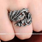 1pc Punk Mens Stainless Steel Dragon Monster Claw Biker Ring Fashion Jewelry