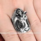 1pc Silvery Stainless Steel Angel Men's Biker Finger Ring Jewelry Fashion Style