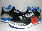 NEW Nike Air Jordan Retro SPORT BLUE Black III 3 Size 9