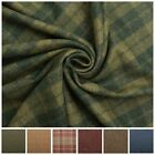 Designer Discount 100% Wool Upholstery Curtain Cushion Tweed Plaid Check Fabric
