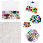 Loom Band White / Black / Clear Alphabet Beads 6mm Single Letters A To Z