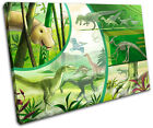 Dinosaurs Boys For Kids Room SINGLE CANVAS WALL ART Picture Print VA