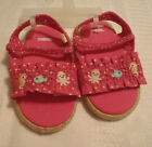 Gymboree Baby Seahorse Sandals Shoes Pink Polka Dot Embroidered Size 1 2 3 or 4