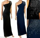 BRAND NEW GORGEOUS BLACK OR BLUE OFF THE SHOULDER DRESS SIZES 8 10 12