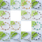 Fashion Jewelry Crystal Faceted Cross Beads Stretch Bracelet 7 Inches SBK139