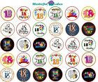 30 x 18th Birthday Design Edible Wafer / Icing Cup Cake Topper